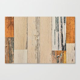 Old painted board Canvas Print