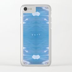 LIVE SURF Clear iPhone Case