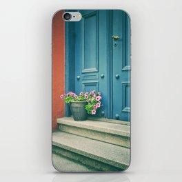 The blue door iPhone Skin