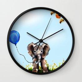 Balloon, Bee and Me Wall Clock