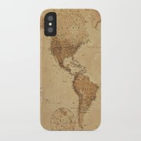vintage map iPhone & iPod Cases featuring VINTAGE MAP by Oksana Smith