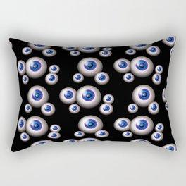glass eyes  - blue Rectangular Pillow