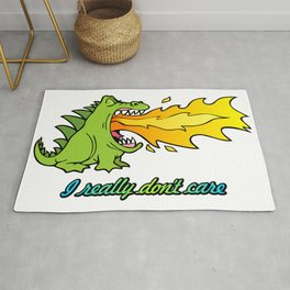 Dragon don't care Rug