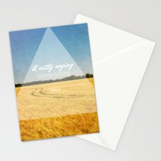 A Witty Saying Proves Nothing Stationery Cards