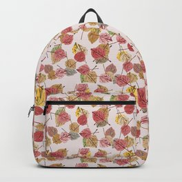 Almost Mauve Falling Leaves in Winter Color Trends Backpack