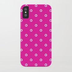 Little pink hearts iPhone X Slim Case