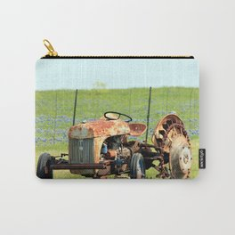 Old Tractor & Bluebonnets Carry-All Pouch