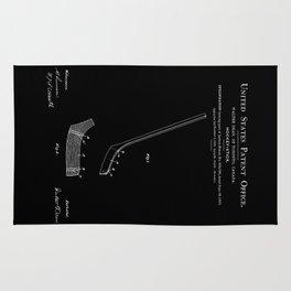 Hockey Stick Patent - Black Rug