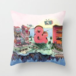 E&N Throw Pillow