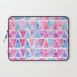 Bubble Gum Watercolor Triangles Laptop Sleeve