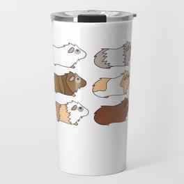 Funny Animal Guinea Pig Tshirt Design Different colors guinea pig Travel Mug