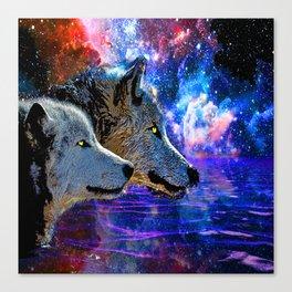 NEBULA WOLF OF THE NIGHT Canvas Print