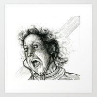Gene Wilder as Young Frankenstein Inking Art Print