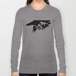 North Carolina Colonial Spanish Horse Lover Black Long Sleeve T-shirt
