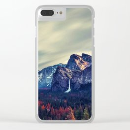 Yosemite Valley and Waterfall in Autumn Clear iPhone Case