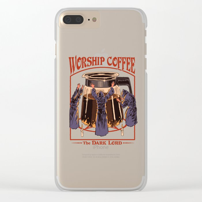 Worship Coffee Clear iPhone Case