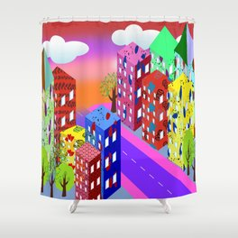 Abstract Urban By Day Shower Curtain