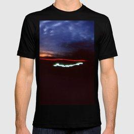 Night Lights Blue Clouds, Tail and Street Light T-shirt
