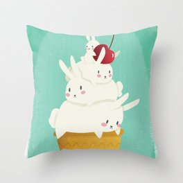 Frozen Bunnies Throw Pillow