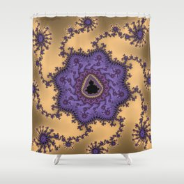 Elegant Purple Mandelbrot Fractal Print Shower Curtain