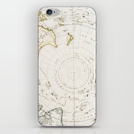 Southern Hemisphere - reproduction of William Faden's 1790 engraving iPhone Skin