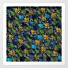 elegant modern pattern with dots circling shiny colored chick glittery Art Print