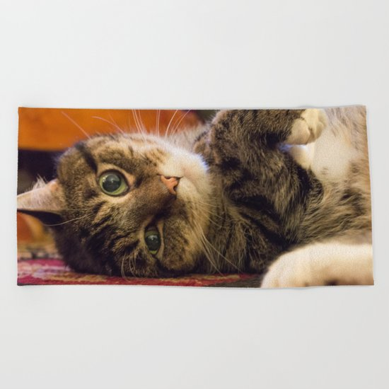 Catnip Cat Beach Towel