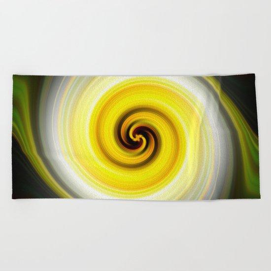 Twirl Yellow Beach Towel
