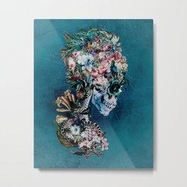 Floral Skull RP Metal Print