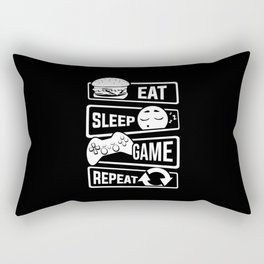 Eat Sleep Game Repeat | Video Game Console Gaming Rectangular Pillow