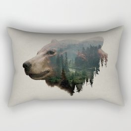 The Pacific Northwest Black Bear Rectangular Pillow