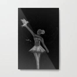 I am Titanium Metal Print