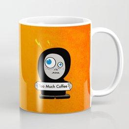 Orange Funny Too Much Coffee Coffee Mug