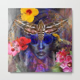 The Search for Hibiscus Life Metal Print