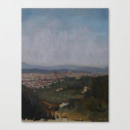 Firenze via Settignano Canvas Print