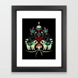 Mandragora and racoon. Framed Art Print