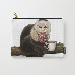 """""""Capuchin Cappuccino"""" - Java Jungle collection Carry-All Pouch"""