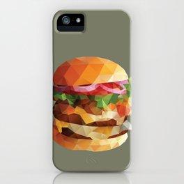 Gourmet Burger Polygon Art iPhone Case