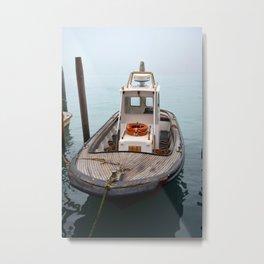 Venice Boat Metal Print