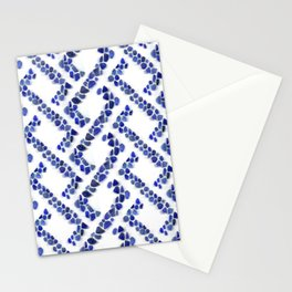 Sea glass - Blue weave Stationery Cards