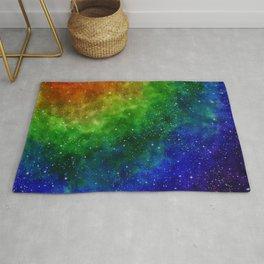 Gorgeous Rainbow Galaxy Rug
