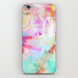 Passion mixed media colorful abstract art iPhone Skin