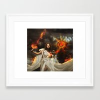 libra Framed Art Prints featuring Libra by EnchantedWhispers