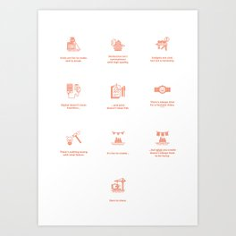 Design Commandments (all) Art Print