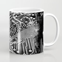 platine board conductor tracks splatter watercolor black white Coffee Mug