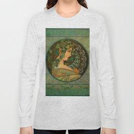 "Alphonse Mucha ""Ivy"" Long Sleeve T-shirt"