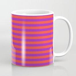 Even Horizontal Stripes, Red and Purple, S Coffee Mug