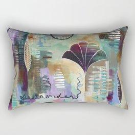 """""""Surrender Grow"""" Original Painting by Flora Bowley Rectangular Pillow"""