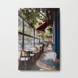 Paris Cafe & Restaurant, European France Travel Print   Parisian French Street, Fine Art Photography Metal Print