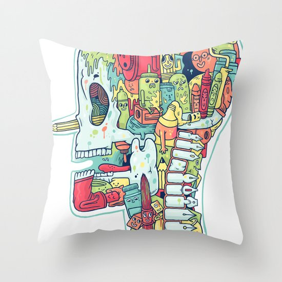 Illustrator to the Bone Throw Pillow